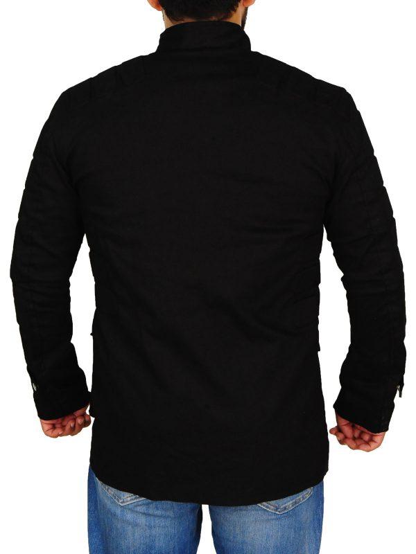 men black cotton jacket, black cotton jacket for men,