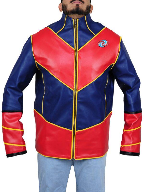kids series captain man jacket, kids series captain man leather jacket,