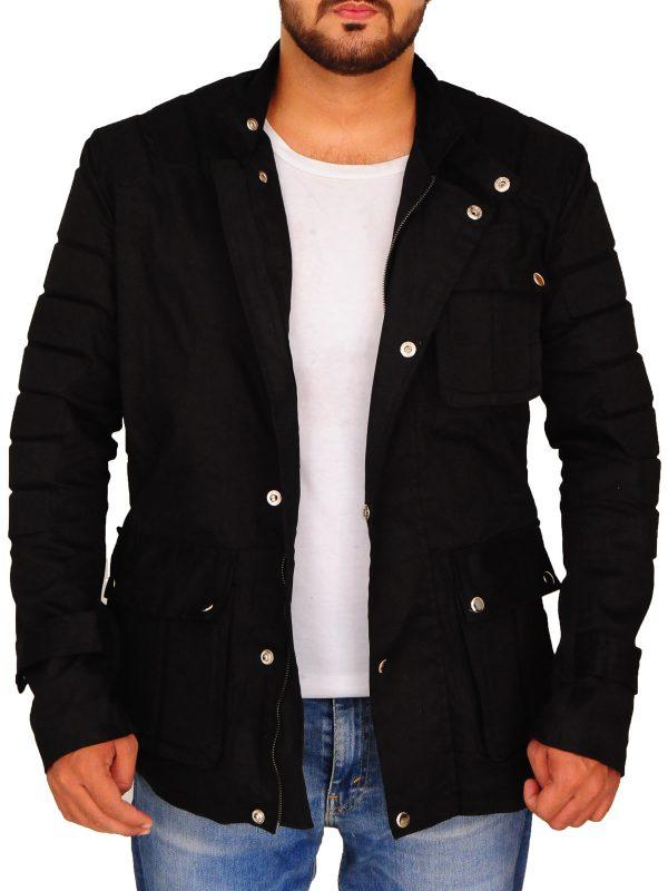 stylish men black padded jacket, men black padded jacket,
