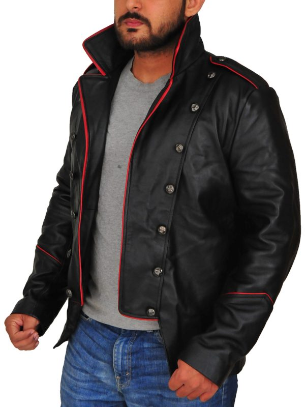 supernatural black leather jacket, supernatural men black jacket,