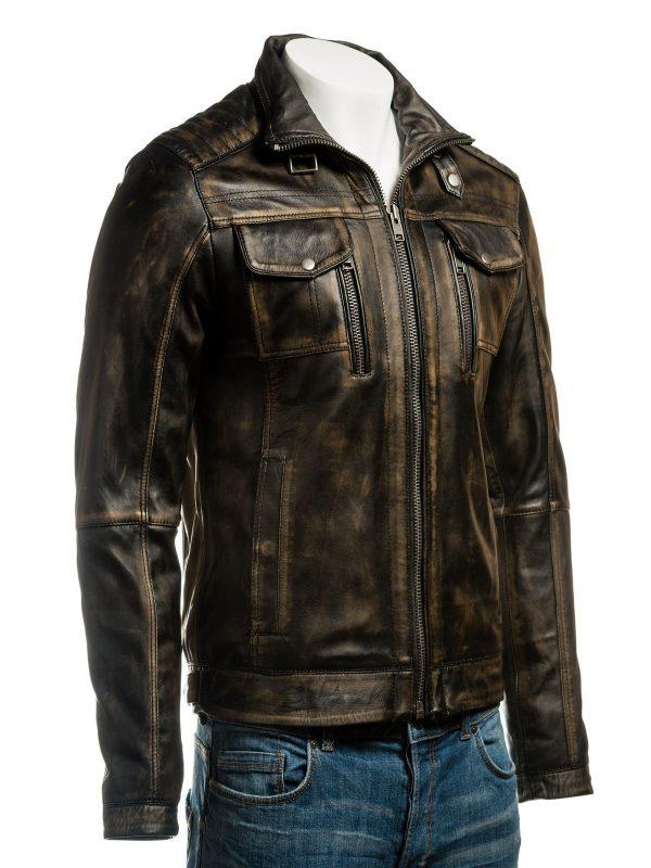 blak biker leather jacket for men, brown biker leather jacket for men,