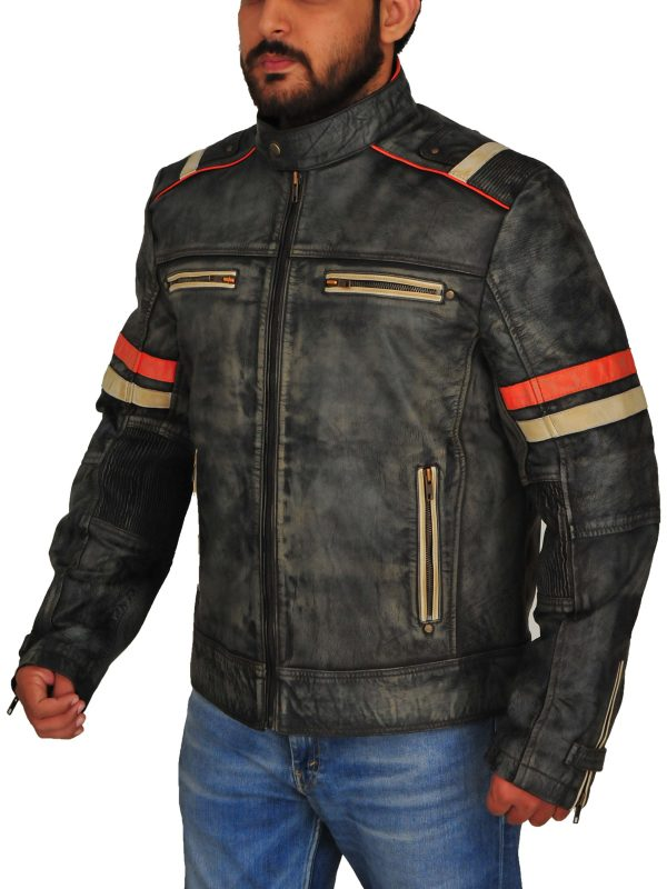 men cafe racer biker jacket, men cafe racer biker leather jacket,