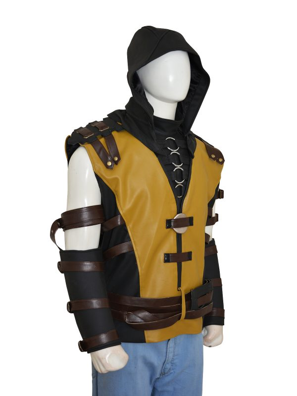 scorpion mortal combat costume, morbat combat cosplay costume,