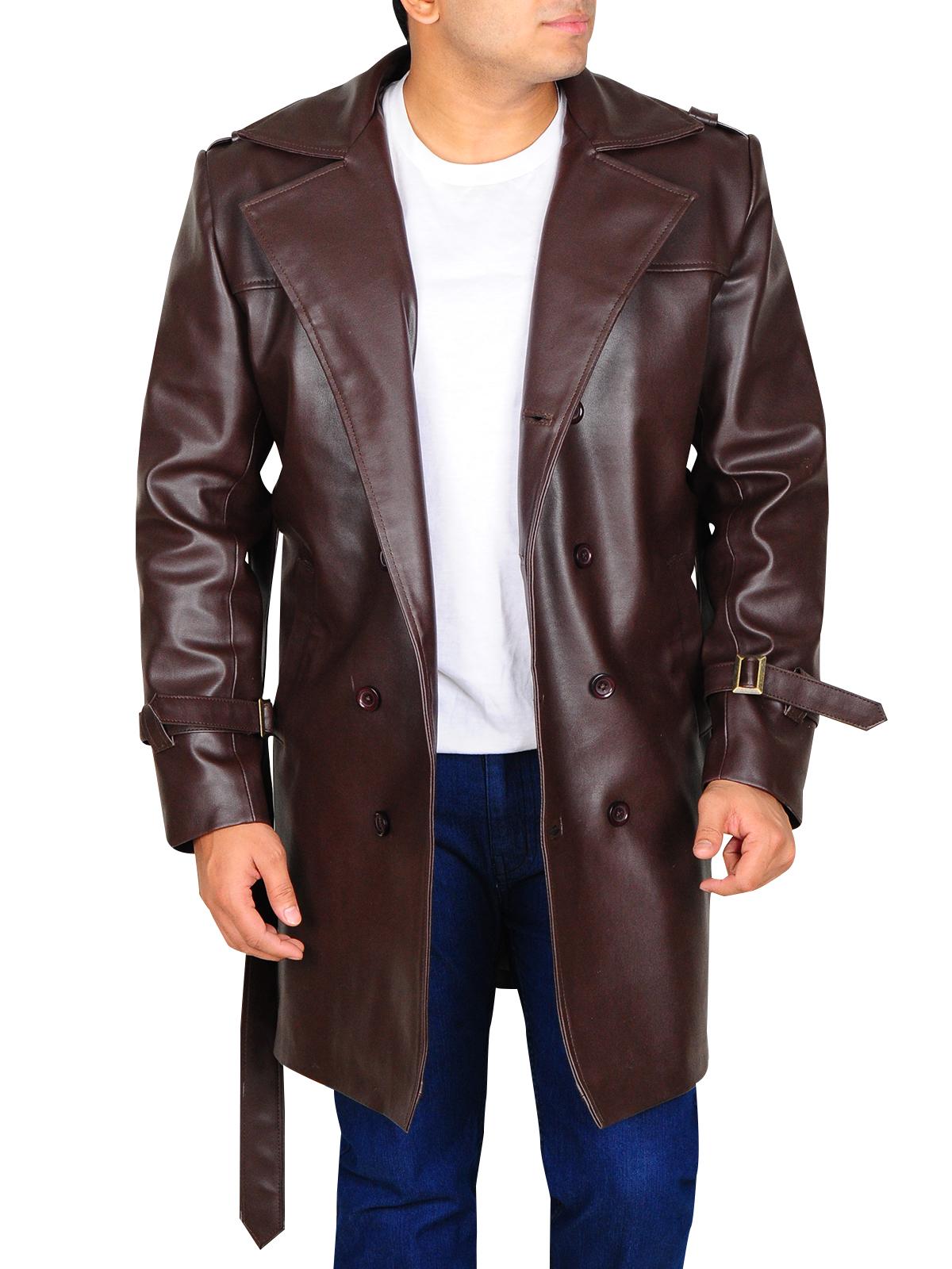 Watchmen Brown Lapel Collar Trench Jacket   Men Jackets   MauveTree