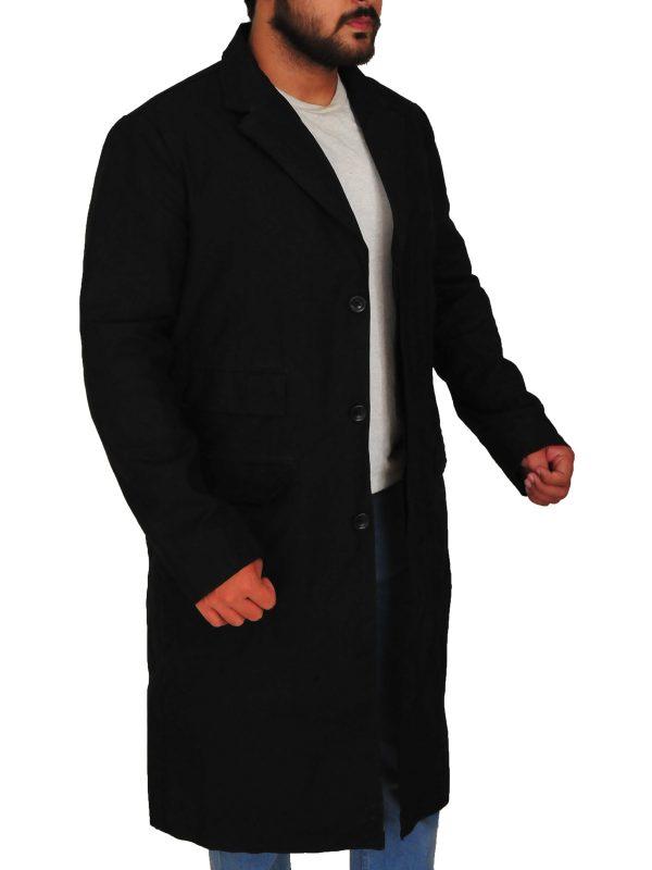Cillian Murphy black coat, Cillian Murphy wool coat,