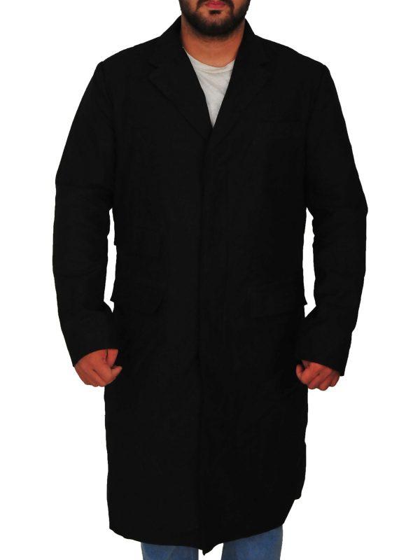 peaky blinders thomas shelby long coat, peaky blinders thomas shelby black wool coat,