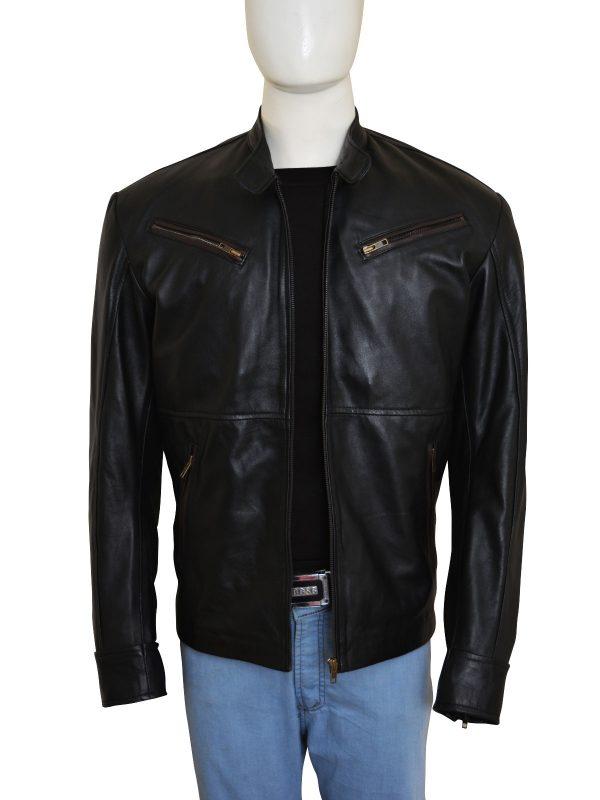 trending black leather jacket, stylish black leather jacket,