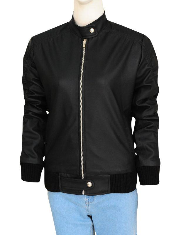 dashing black women jacket, rib knitted black women jacket,