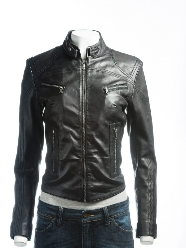 trending women black jacket, trending women black leather jacket,