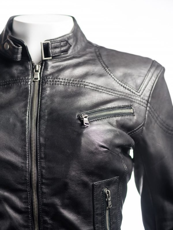 trending women black biker jacket, black biker jacket for women,