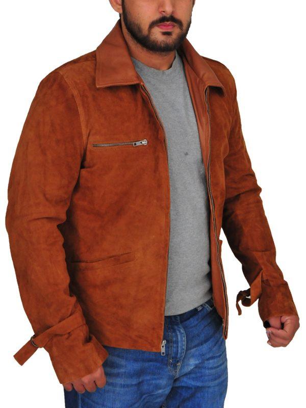 fashionable men suede leather jacket, stylish men suede leather jacket,