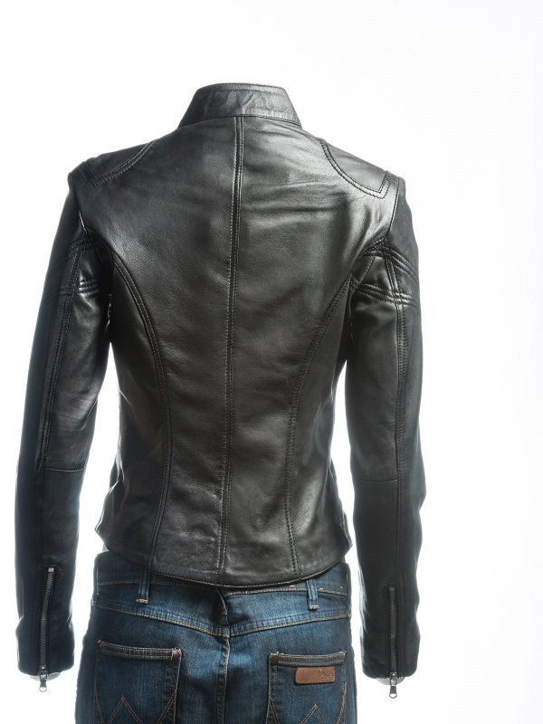 black leather jacket for women, women black leather jacket,
