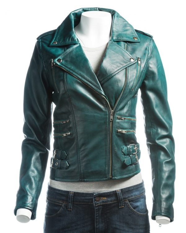 attractive women leather jacket, fashionable women leather jacket,