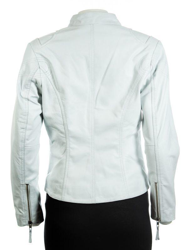 white women jacket, trending white women leather jacket,