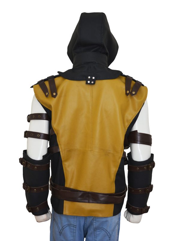 scorpion cosplay costume, yellow scorpion cosplay costume,