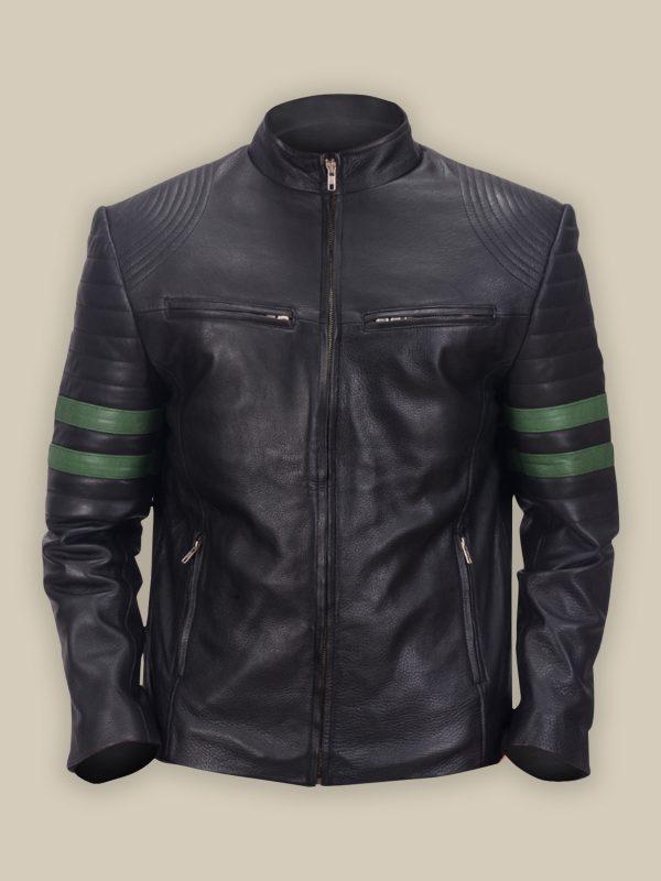 men trending biker leather jacket