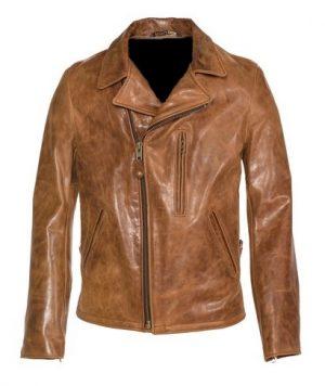 men brown brando leather jacket, men brown leather jacket,