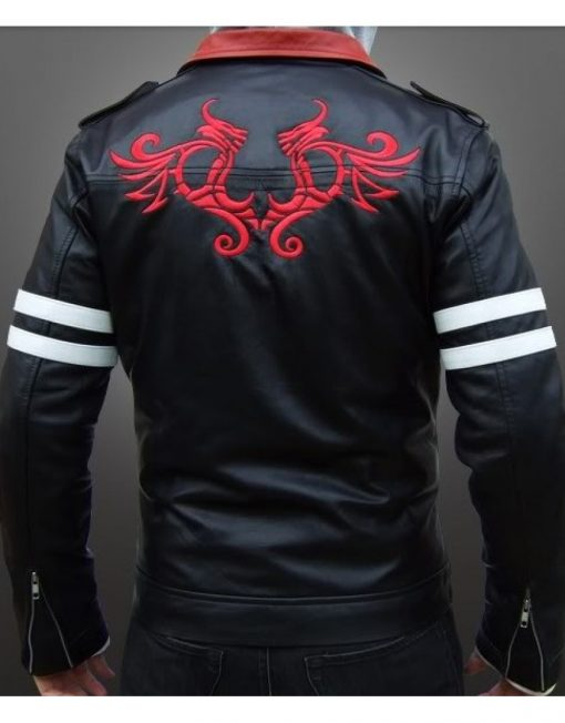men dashing black leather jacket, men sporty black leather jacket,