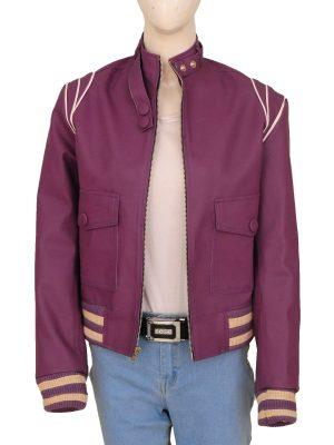 trending women purple leather jacket, purple leather jacket for women,