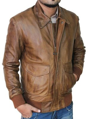 men brown leather jacket, mauvetree men brown leather jacket,