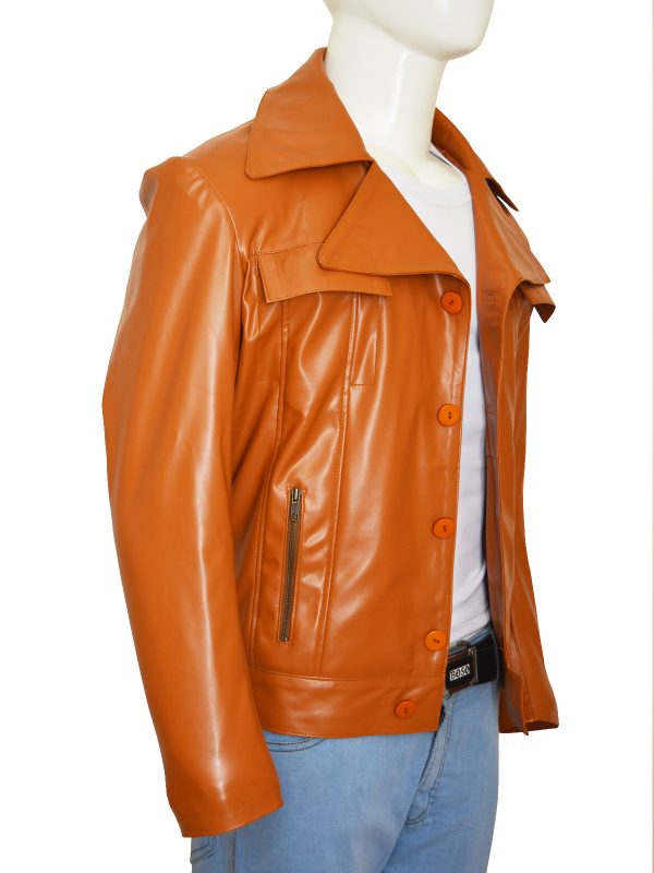 trending brown leather jacket, stylish brown leather jacket,