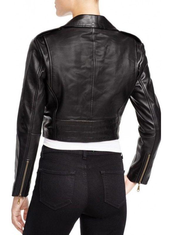 women black biker leather jacket, women black brando leather jacket,