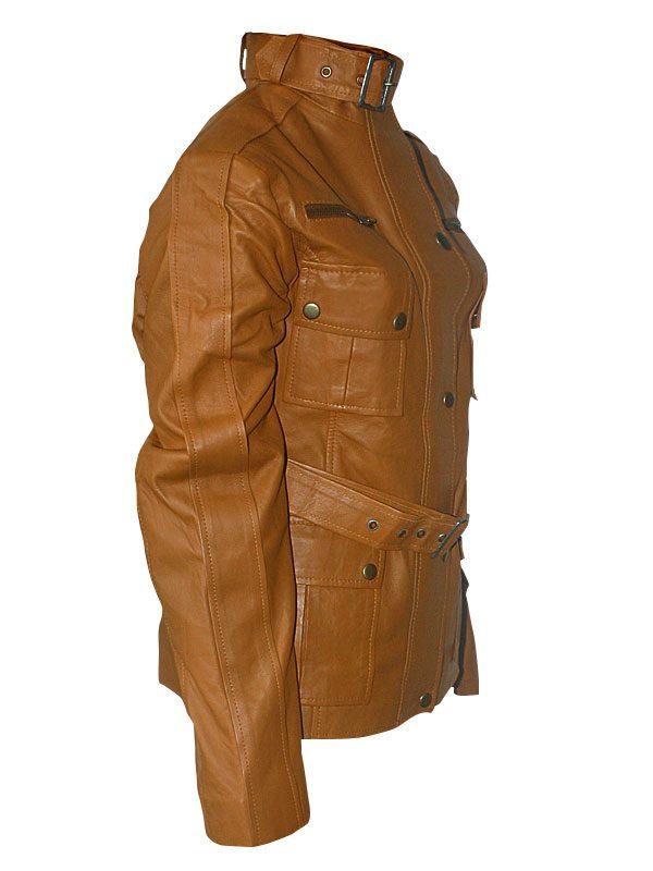 women leather jacket, stylish women brown leather jacket,