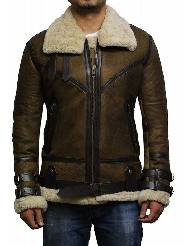 b3 bomber aviator leather jacket, trending brown bomber jacket,