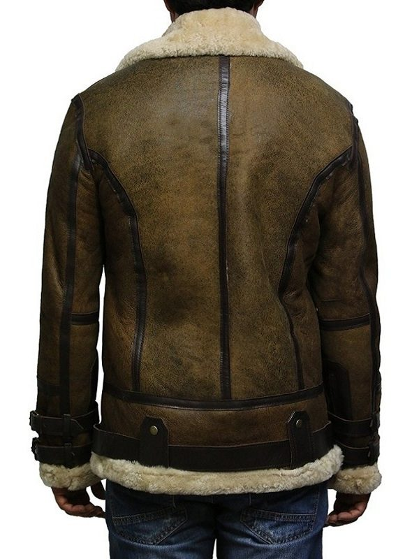 b3 bomber men leather jacket, b3 bomber brown sheepskin leather jacket,