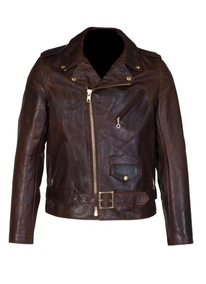 men brown perfecto motorcycle leather jacket, men brown brando leather jacket,