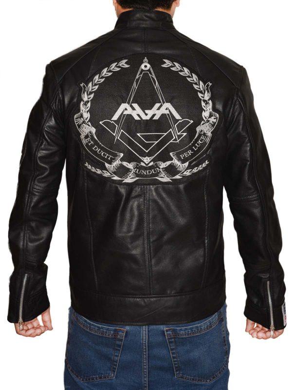 stylish black men leather jacket, fashion, trending,