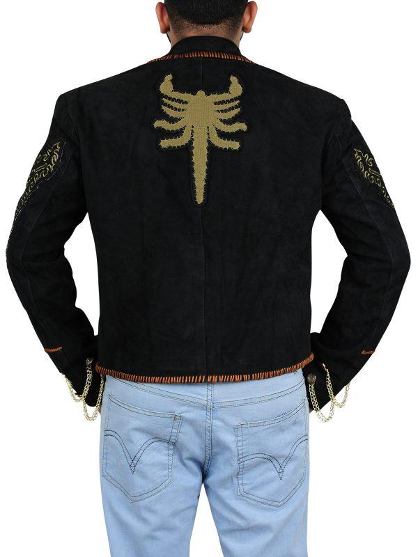 stylish black suede leather jacket, men suede leather jacket,