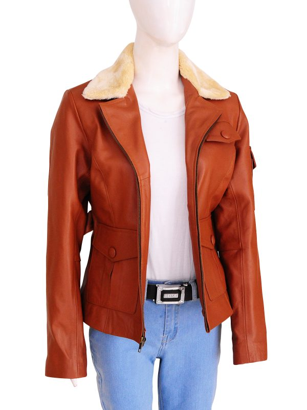 women brown leather jacket, girl brown leather jacket,