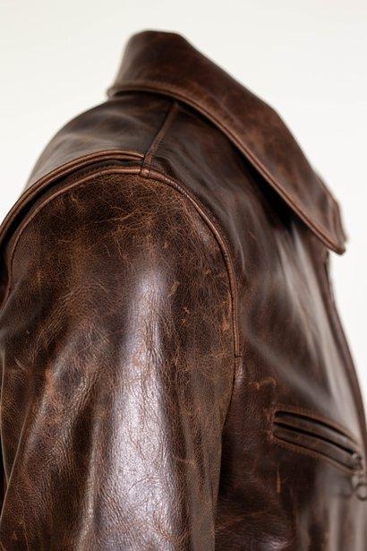 men distressed brown leather jacket, distressed brown men leather jacket,