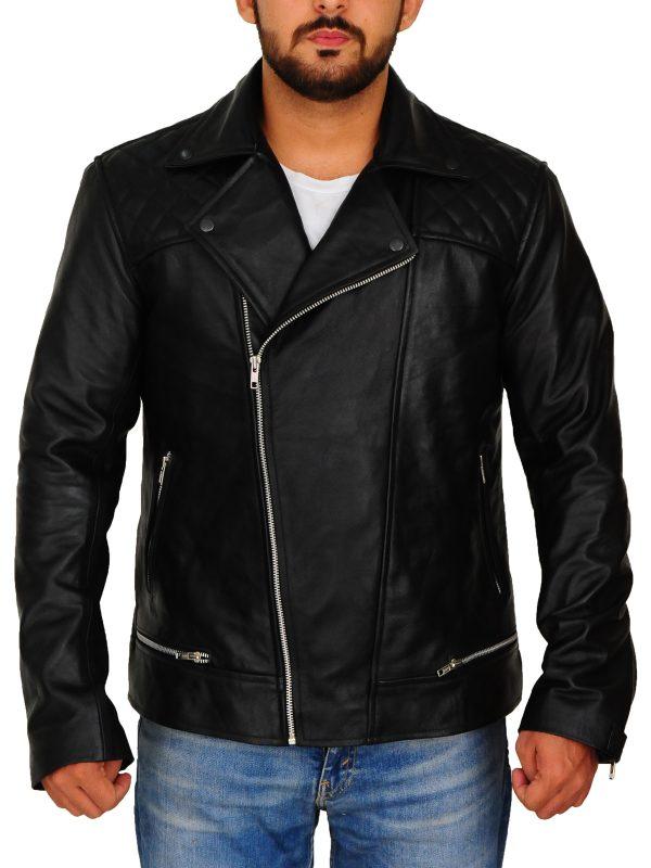 black brando leather jacket, black biker leather jacket,