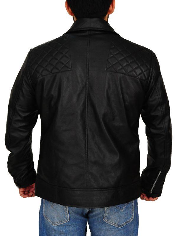 men black leather jacket, black leather jacket for men,