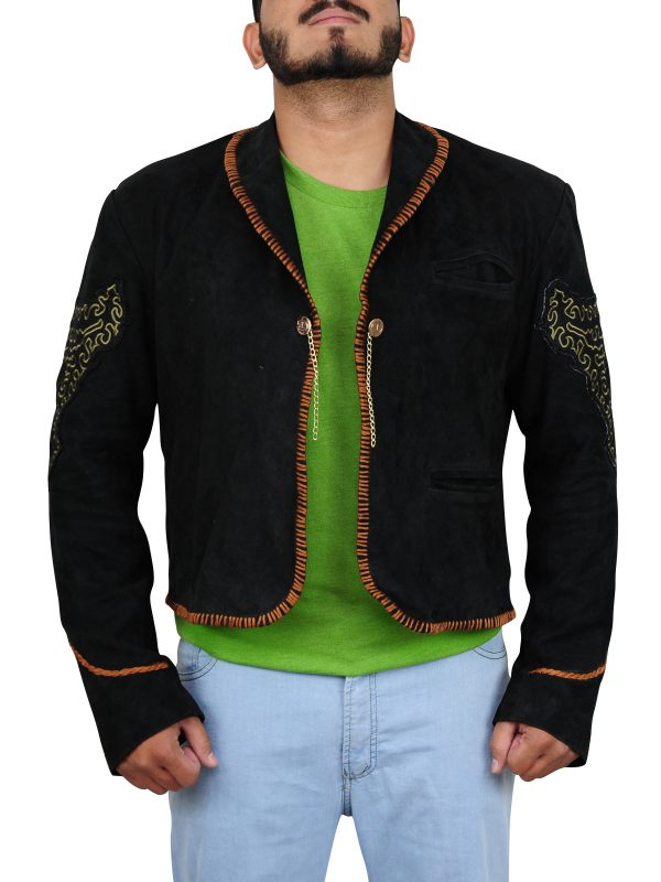 black suede leather jacket for men, classy black suede leather jacket,