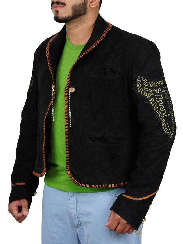 trending suede leather jacket, men black suede leather jacket,