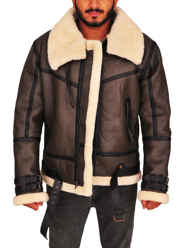 trending brown b3 bomber leather jacket, trending b3 bomber aviator leather jacket,