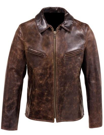 trending distressed brown men leather jacket, classy distressed brown men leather jacket,