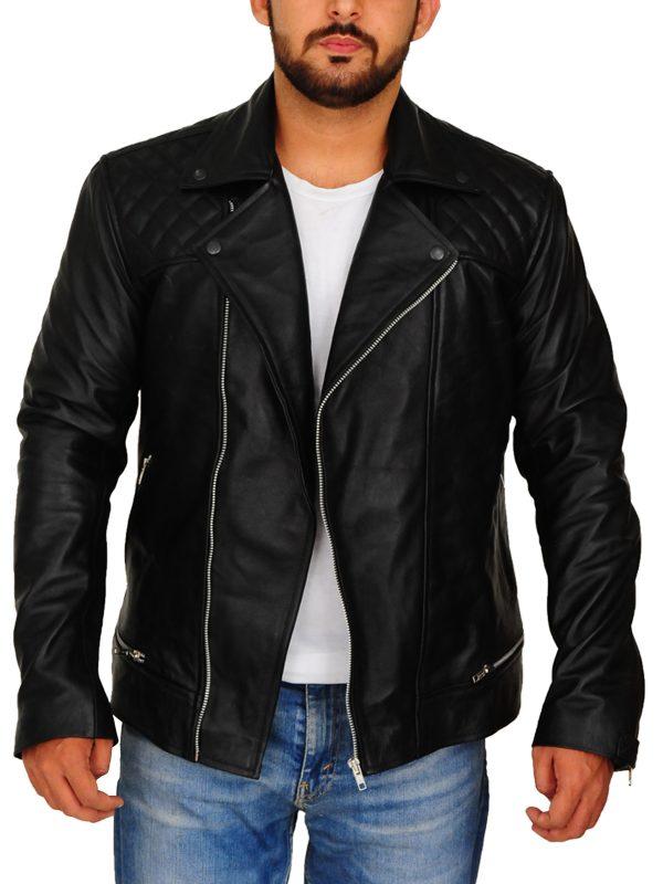 men's black brando leather jacket, black brando leather jacket for men,