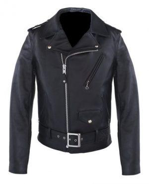 black brando leather jacket for men, black motocycle leather jacket for men,