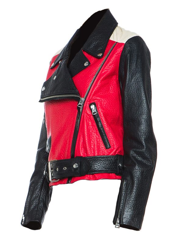 stylish women biker leather jacket, dashing women leather jacket,