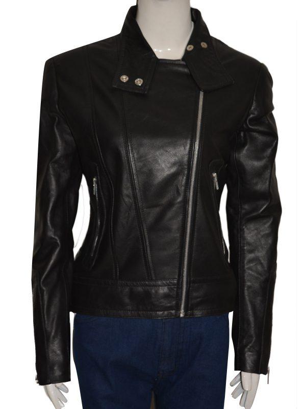 dashing women leather jacket, fashionable women leather jacket,