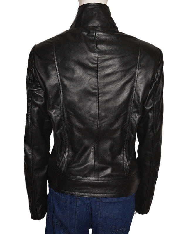 mauvetree women leather jacket, black leather jacket for women,