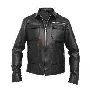 stylish men bomber jacket, black bomber leather jacket,