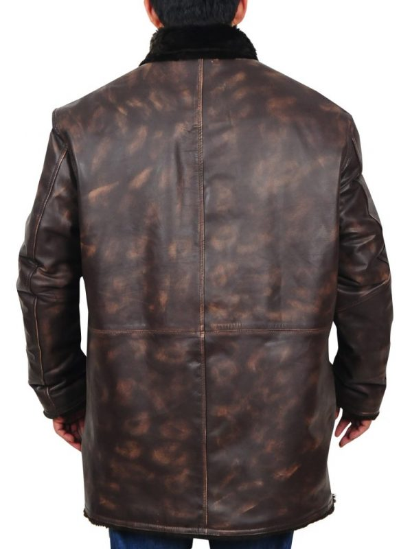 men distressed brown leather jacket, men's brown leather jacket,