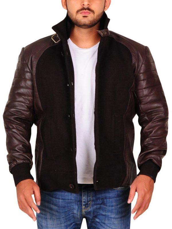 dark brown leather jacket for men, men dark brown leather jacket,