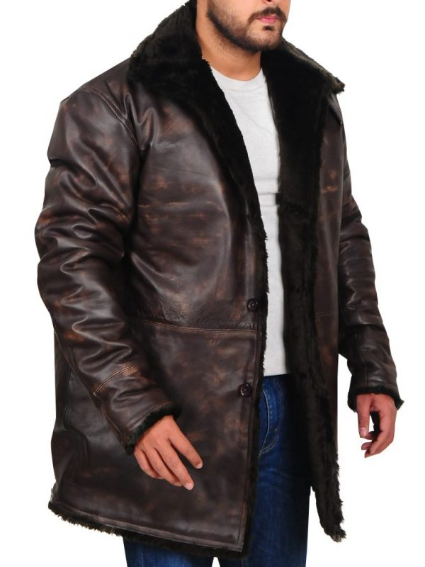 stylish brown men leather jacket, men's brown leather jacket,