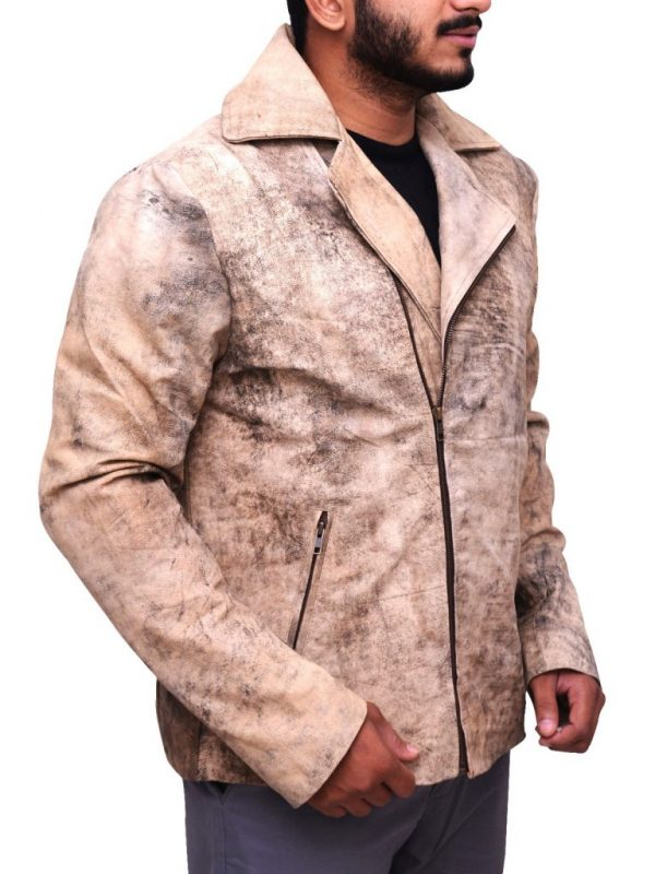 trending distressed brown leather jacket, men's distressed brown leather jacket,